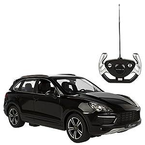 Rastar - Porsche Cayenne Turbo, coche teledirigido, escala 1:14, color negro (ColorBaby 85014)