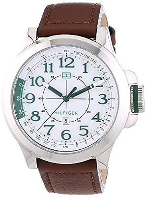Tommy Hilfiger 0 - Reloj de cuarzo para hombre, con correa de cuero, color 0