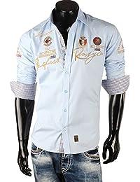 Redbridge Herren Langarm Hemd Klassisch Slim Fit Poloshirt T-Shirt