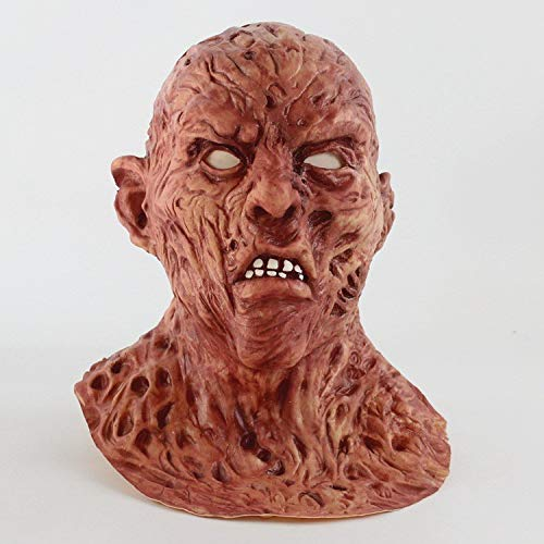 Ya1&Ya Maske Latex Cos Film Halloween Horror Biochemie Zombie Gesicht Geist Maske Jason Zombie Zombie Kopfbedeckungen