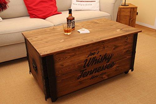 couchtisch truhe holzkiste beistelltisch vintage shabby chic die hausbar. Black Bedroom Furniture Sets. Home Design Ideas