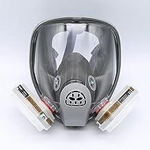 Máscara gas 3M 6800, máscara de respiración de cara completa, kit de 7 piezas, adecuado para aspersión de pintura.