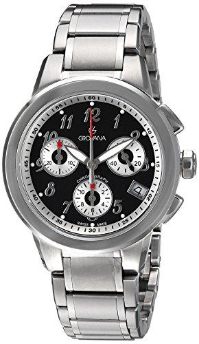 Grovana Unisex-Adult Analogue Swiss-Quartz Watch with Stainless-Steel Strap 5094-9137