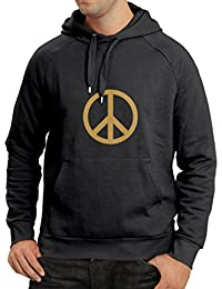 N4118H sudadera con capucha PEACE SIGN funny hip retro symbol anti war karma new tee MENS