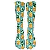 Calcetines de piña tropicales hawaianos Calcetines de algodón de punto casual Calcetines de invierno cálidos