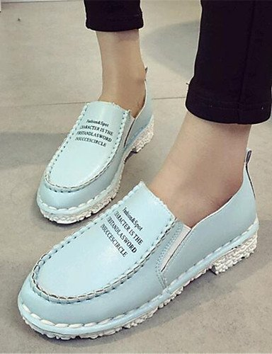 ZQ Scarpe Donna-Mocassini-Tempo libero / Casual-Creepers-Plateau-Finta pelle-Blu / Rosa / Bianco / Grigio , gray-us9 / eu40 / uk7 / cn41 , gray-us9 / eu40 / uk7 / cn41 gray-us5.5 / eu36 / uk3.5 / cn35