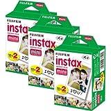 Fujifilm Instax Mini Film Bundle Pack (60 Aufnahmen) Mini für Instax 8 50s 25 7s 90 300