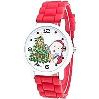Cebbay Liquidación Importados Reloj para niños Color Reloj de Moda Silicona Correa Reloj (Rojo)