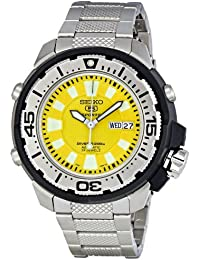 Seiko Men's SKZ251 5 Sports Automatic Yellow Dial Stainless Steel Watch