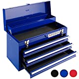 Arebos Werkzeugkoffer mit 3 Schubfächer (Blau)