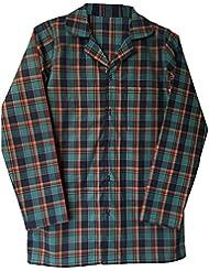Sock Snob - Haut de pyjama 100% coton homme flanelle adulte manche longue en 4 tailles