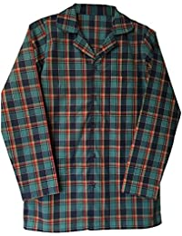 Sock Snob Mens 100% Cotton Warm Long Sleeve Tartan/Check Nightshirt Nightwear With Buttons