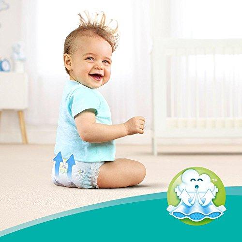 Pampers Baby-Dry Windeln Größe3 (6-10kg), Luftkanäle für atmungsaktive Trockenheit die ganze Nacht, Giga Pack, 1er Pack (1 x 136 Stück)