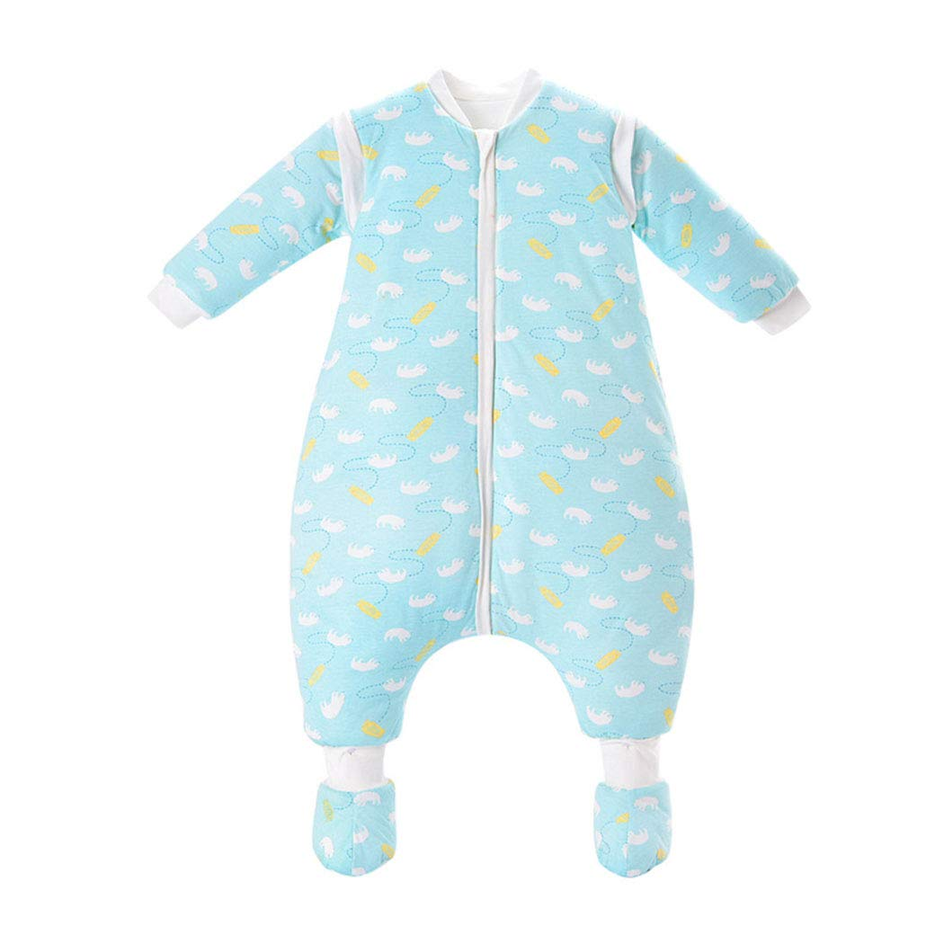 AIKSSOO Saco de Dormir para Bebé de Invierno Algodón Acolchado con Pierna Partida Desmontable de Manga Larga, Aprox. 3.5…