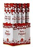 Spetebo Party Popper mit weißen Herzen - 12er Set - Konfetti Kanonen zur Hochzeit