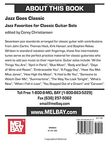 Jazz Goes Classic: Jazz Favorites for Classic Guitar Solo