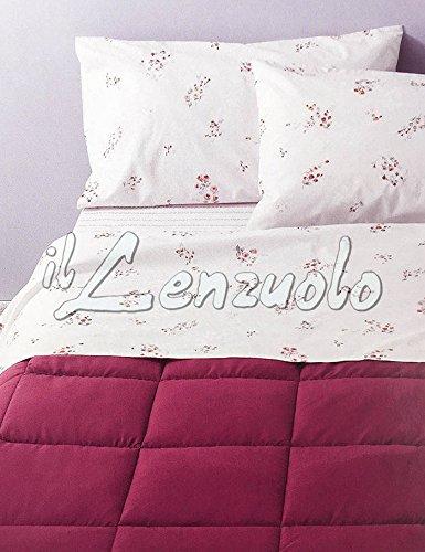 Lenzuola flanella completo matrimoniale chantal di zucchi - rosa