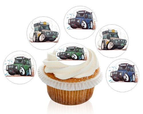 12-large-pre-cut-land-rover-4x4-edible-premium-disc-wafer-cupcake-decorations-toppers-by-kreative-ca