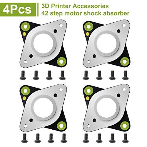 Innovateking-EU amortiguadores de vibración de Acero y Goma con Tornillo M3 para 42 Motores Paso a Paso CNC CR-10 Ender 3 impresoras 3D