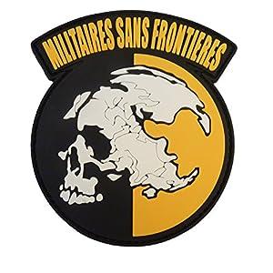 Militaires Sans Frontieres Metal Gear Solid Peace Walker PVC Gomme 3D Velcro Écusson Patch