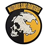 Militaires Sans Frontieres Metal Gear Solid Peace Walker PVC Gomma 3D Hook&Loop Toppa Patch