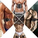 Smart Fitness-Gerät EMS Bauchmuskel Trainingsmaschine, Bauchgürtel Muskelaufbau ABS, Wireless Portable Bauch/Arm/Bein Trainer für Männer oder Frauen, von Hommie, Schwarz - 4