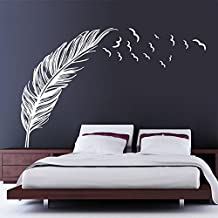 wandtattoo feder wei reuniecollegenoetsele. Black Bedroom Furniture Sets. Home Design Ideas