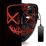 AUGOLA Halloween Led Máscaras, Purga Mascara Led Mask 3 Modos de Iluminacion...