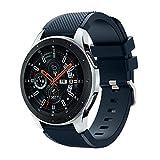 Gusspower Correa de Reloj para Samsung Galaxy Watch 46mm, Pulsera de Silicona 22mm Watchband Repuesto de Correa (Azul de Medianoche)