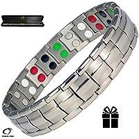 Silber Double Stärke Titanium Magnetic Armband für Männer + Plus Samt Geschenk-Box - Arthritis Armband | Golf... preisvergleich bei billige-tabletten.eu