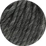 Lana Grossa Wolle Lei 012 Dunkel-Grau meliert