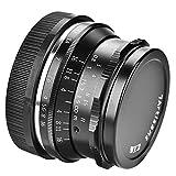 Acouto 7Artisans 35mm F1.2 Objektiv Manueller örtlich festgelegter Fokus für Canon Sony Fujifilm M4 / 3 Kameras(Canon)