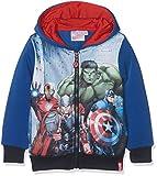 Marvel DHQ1379, Felpa con Cappuccio Bambino, colore Blu, 3-4 Anni (taglia produttore: 4 anni)