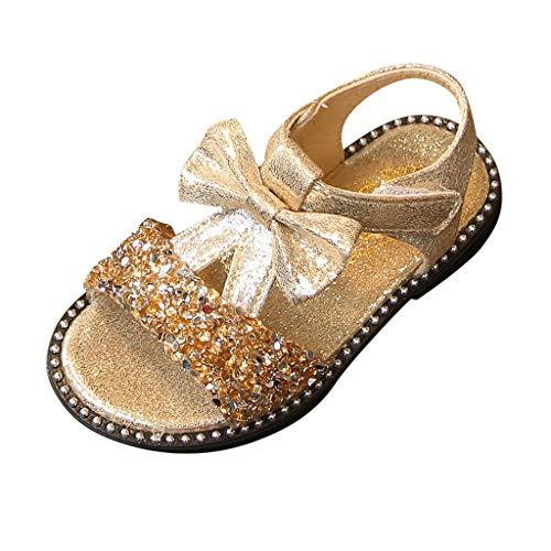 ON Kleinkind Kinder Bowknot Bling Pailletten Einzelne Prinzessin Sandalen Mädchen Kostüm Party Geburtstag Pantoletten ()