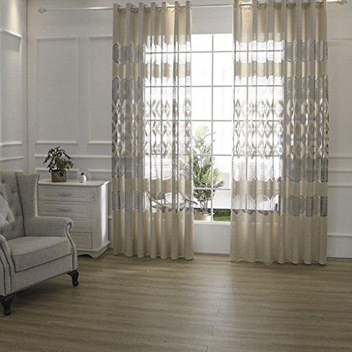 Preisvergleich Produktbild Vorhänge Met Love Jane Europa Atmosphäre Moderne hochwertige Jacquard-Fenster Schatten Wohnzimmer Vorhang Balkon Fenster Bildschirm Specials 2 Panels (größe : L:2.5*H:2.7m)