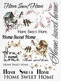 Reispapier A4 - Home Sweet Home