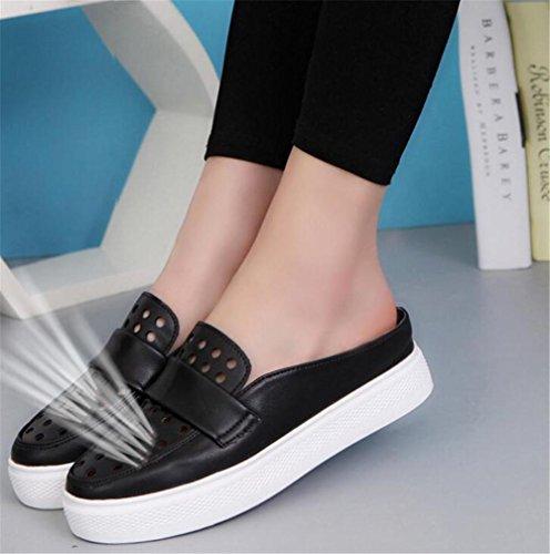 LDMB Frauen Sommer Casual Anti-Rutsch Breathable Hausschuhe Lazy Schuhe Sandalen Strand Schuhe / Hausschuhe Black