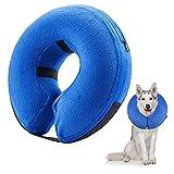 Frifer Pet Collare gonfiabile di Recupero Regolabile Collare Morbido Protettivo per Cani Gatti, L(Circonferenza del collo: 42-55cm/16.6-21.6in)