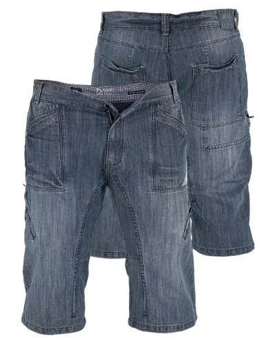 Denim Carpenter Jeans (Duke Men's Blue Denim Carpenter Utility Pocket Long Capri Shorts-5XL)