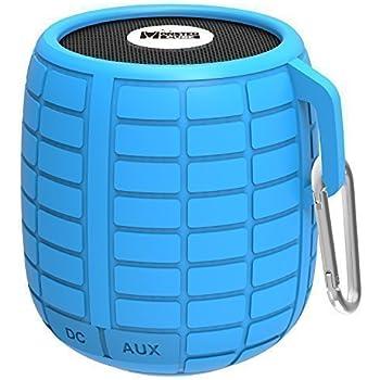 Monstercube Bomb cassa altoparlante speaker bluetooth 4.1, blu, impermeabile, ottimo per doccia e attività all'aria aperta, 10 metri di portata Bluetooth, altoparlante bluetooth per auto, pratico, vivavoce portatile con microfono incorporato per agevolare le chiamate, 4 ore di riproduzione