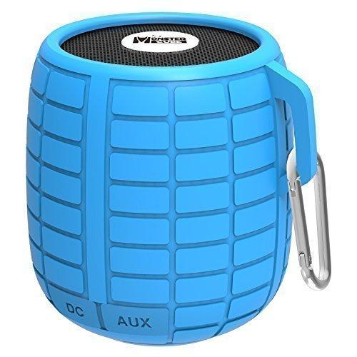 Monstercube Bomb cassa altoparlante speaker bluetooth 4.1, blu, impermeabile, ottimo per doccia e attività all'aria aperta, 10 metri di portata Bluetooth, altoparlante bluetooth per auto, pratico, vivavoce portatile con microfono incorporato per agevolare le chiamate, 4 ore di riproduzione - B-52 Altoparlanti