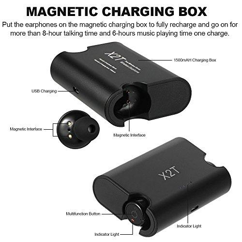 Vingtank X2T Cuffie Bluetooth Senza Fili In-ear Stereo Bluetooth 4.2 Sport  Auricolari Musica a Mani Libere w   Mic 1500 mAh di Carica Box per la Corsa  ... a80791d9daad