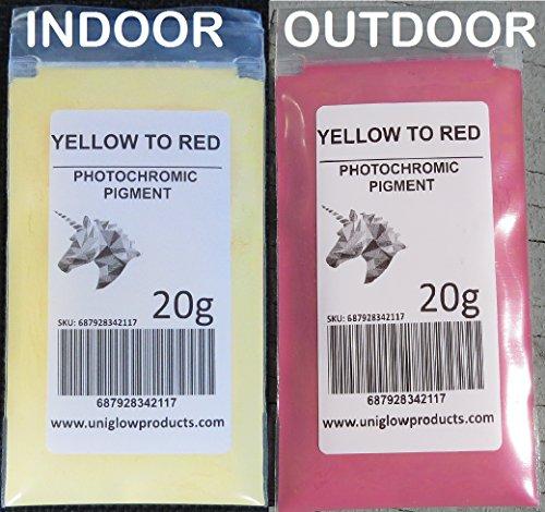 fotocromáticas pigmento cambios colores cuando se expone a la luz solar o luz UV, y vuelve a su luz Solar Original de color cuando está bloqueado.