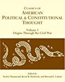Classics of American Political and Constitutional Thought, 2-Volume Set (2007-03-15)