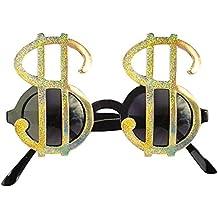 Widmann - Occhiali Dollaro per Adulti, Oro, Taglia Unica, VD-WDM6736Z