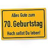 DankeDir! 70. Geburtstag Stadtschild - Kunststoff Schild, Geschenk 70. Geburtstag, Geschenkidee Geburtstagsgeschenk Siebzigsten, Geburtstagsdeko/Partydeko / Party Zubehör/Geburtstagskarte