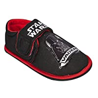 BATMAN Stawars Vader Boys Slippers with Velcro Strap