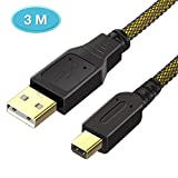 6amLifestyle Ultra 3M High Speed Premium USB Charging Cable Adapter For Nintendo 2DS / New 2DS LL / 3DS / 3DSLL / NDSI / NDSILL / NEW 3DS / NEW 3DSLL