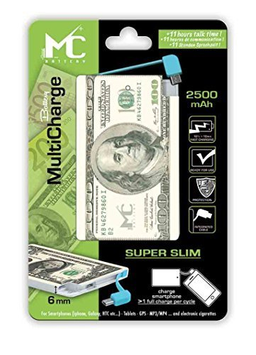 2500mAh 100 Dollar $ EURO Powerbank Power Akku Externerakku Externer Akku USB Ladegerät für Smartphone tablet Mp3 & E Shisha Zigaretten geeignet Champ Batter