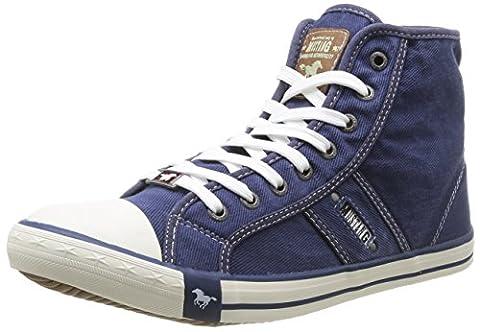 Mustang 4058-504, Herren Hohe Sneakers, Blau (841 jeansblau), 44 EU (9.5 Herren UK)